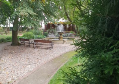 Park - fontanna