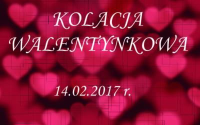Kolacja Walentynkowa w Dworku Róża Poraja