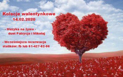 KOLACJE WALENTYNKOWE 14.02.2020
